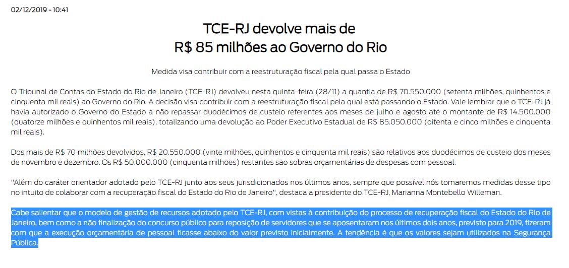 Concurso TCE RJ: nota divulgada;