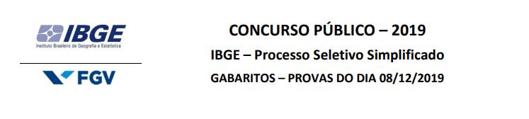concurso IBGE gabarito preliminar