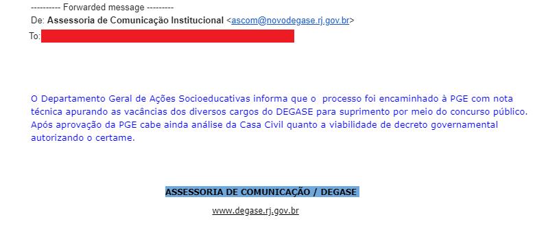 Concurso Degase RJ