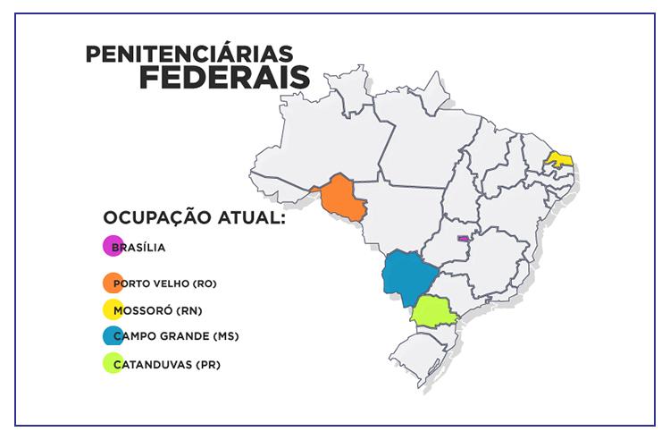 Concurso DEPEN: mapa de presídios federais!