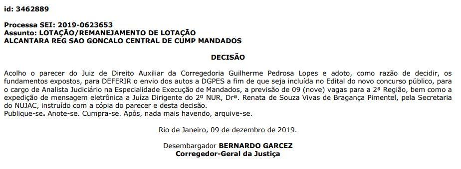 Concurso TJ RJ: Decisão da Corregedoria-Geral da Justiça.