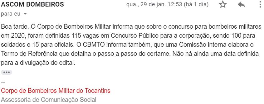 Concurso Bombeiro Tocantins: termo em elaboração; vagas confirmadas!