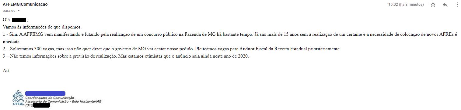 Concurso Sefaz MG: AFFEMG solicita novo certame ao governo!