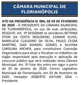 – Concurso Câmara de Florianópolis