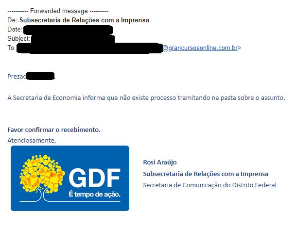 Concurso Detran DF: ascom