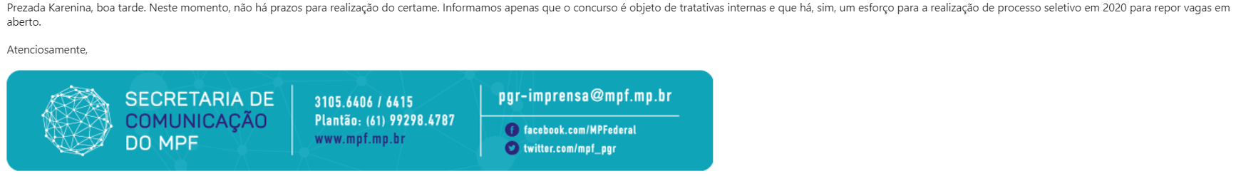 Concurso MPU: informação assessoria