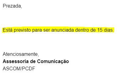 Concurso PCDF Agente: banca deve ser definida nos próximos dias.