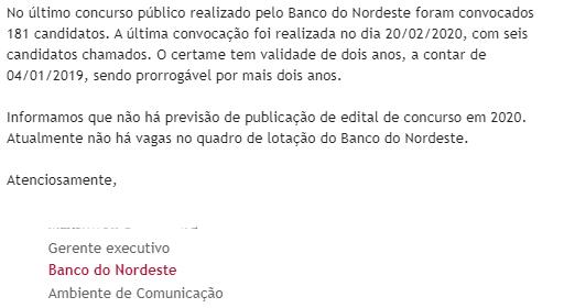 Concurso Banco do Nordeste: nomeações!