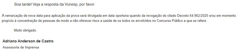 CONCURSO SES SP