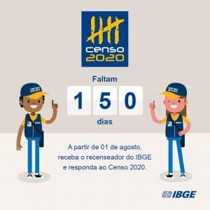 Concurso IBGE: 150 dias para o início do Censo Demográfico 2020.