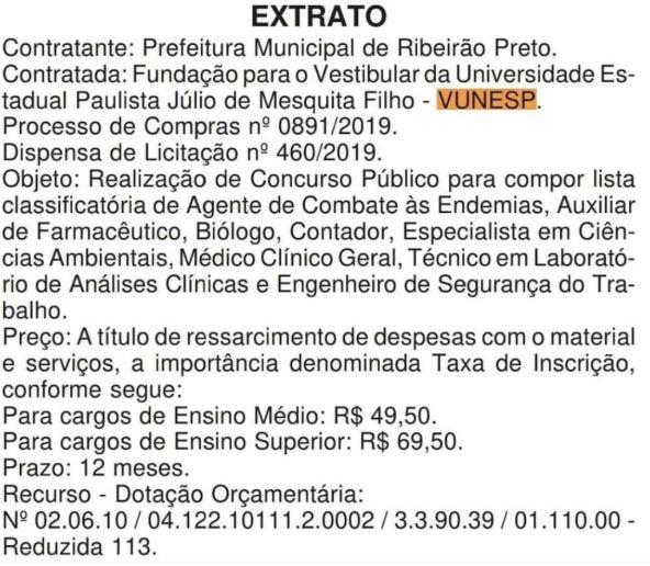 Concurso Prefeitura Ribeirão Preto SP