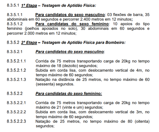 Concurso Bombeiros RS: etapas!