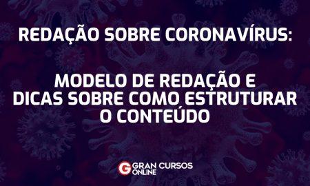 modelo de redacao sobre coronavirus