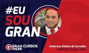 Conheça Anderson Kleiton de Carvalho: 2º lugar no concurso Agepen GO