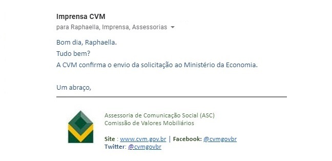 Concurso CVM: solicitado ME. (01/06/2020)