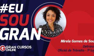 Mirele Souza conquistou 1º lugar para Oficial de Trânsito no concurso Detran SP