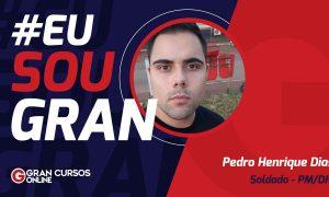 Pedro Henrique conquistou aprovação no concurso PMDF Soldado