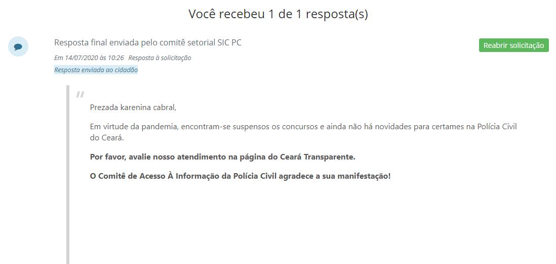 Concurso PC CE: