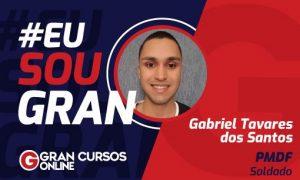 Inspire-se com a história do Gabriel Tavares, aprovado no concurso PMDF