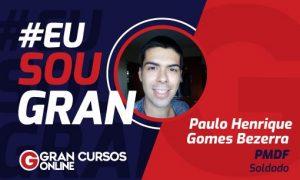 Paulo Henrique Gomes conquistou a aprovação no concurso PMDF e foi nomeado no dia do seu aniversário