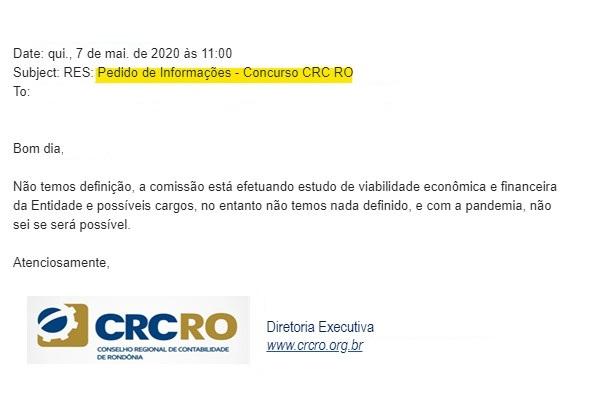 concurso crc ro - estudos pela comissao