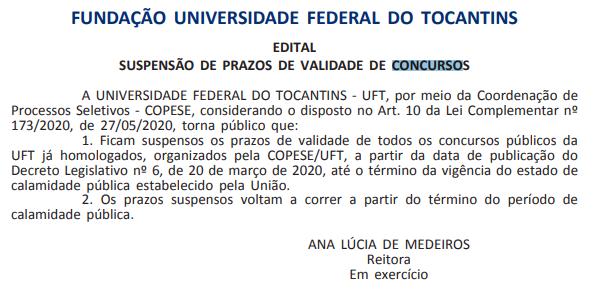 Concurso UFT