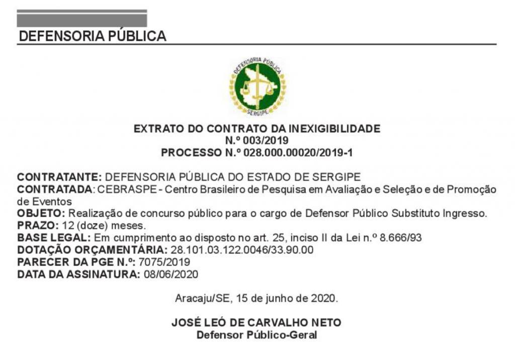 Concurso DPE SE Defensor