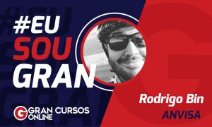 Veja como foi a jornada de estudos de Rodrigo Bin até conquistar a aprovação no concurso Anvisa