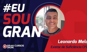 Aprovado no Exame CFC, Leonardo Melo estudou conciliando com o trabalho