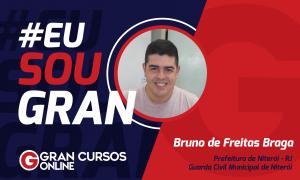 Perder o emprego na iniciativa privada fez com que Bruno Braga estudasse para concursos públicos e fosse atrás de algo melhor