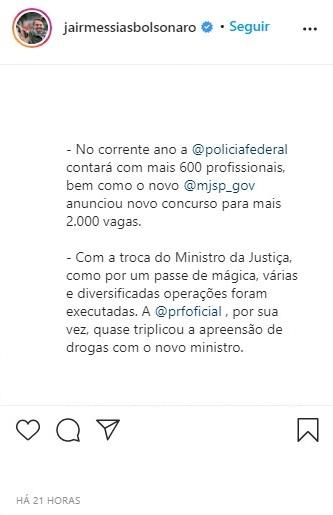 Concurso Polícia Federal é confirmado pelo presidente da República, Jair Bolsonaro - Concurso PF