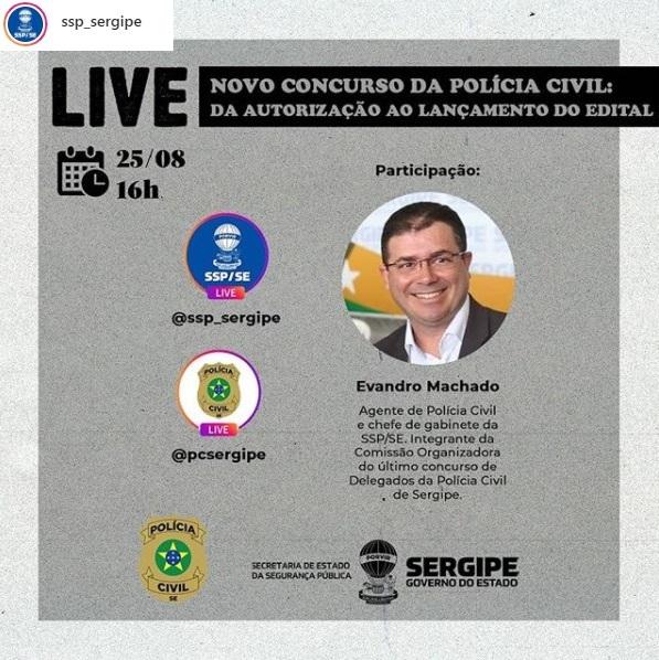concurso pc se - live instagram