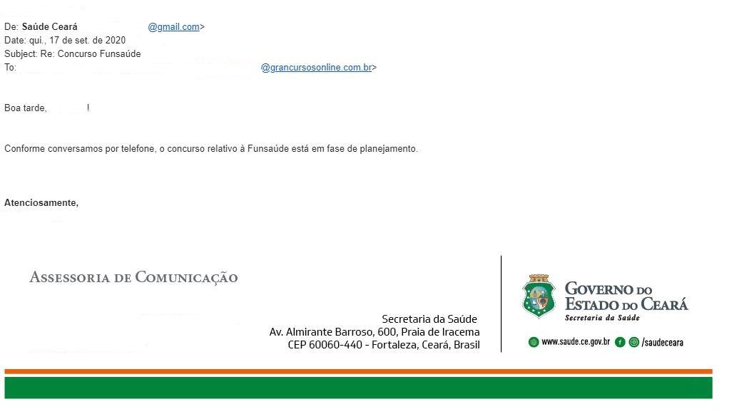 Concurso Funsaúde CE