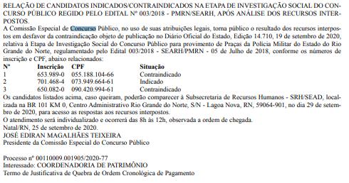 Concurso PM RN: publicação do Diário do Rio Grande do Norte!
