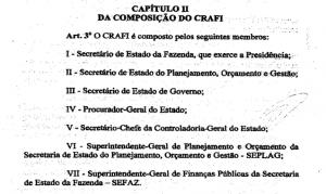 Organização antiga do CRAFI SE