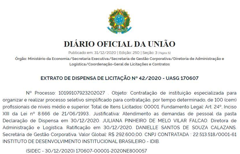 Concurso Ministério da Economia: banca definida