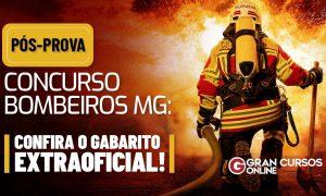 Gabarito Bombeiros MG: confira o gabarito EXTRAOFICIAL comentado!