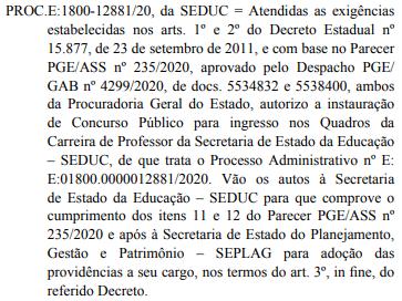 Concurso SEDUC AL: autorizado!