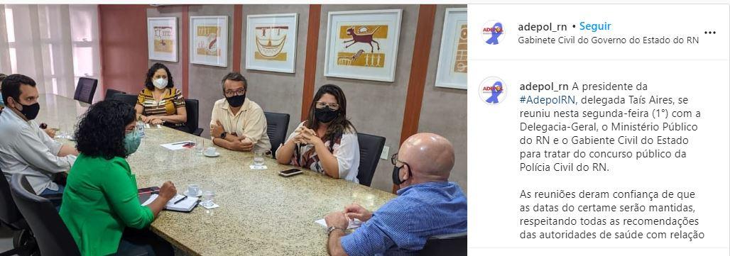 Concurso PC RN: Reunião dentre Adepol e Ministério Público