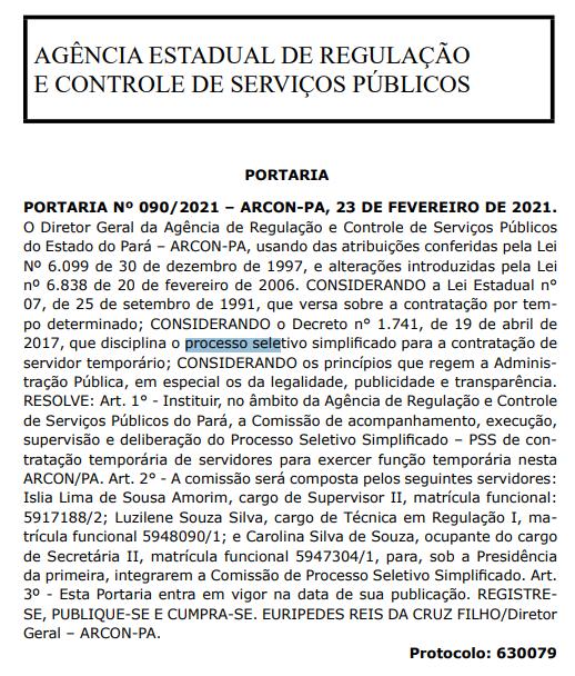 Concurso Arcon PA: comissão formada para processo seletivo