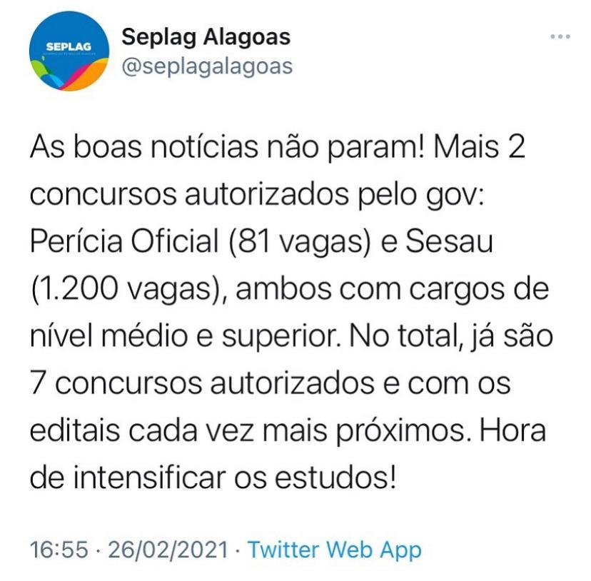 Concursl SESAU AL: 1.200 vagas