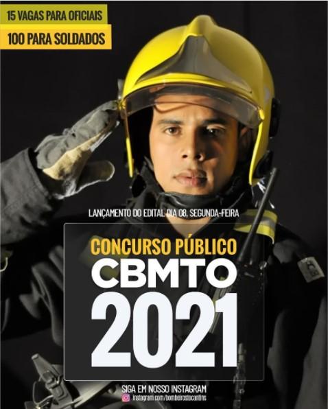 concurso bombeiros tocantins lançamento do edital 2021