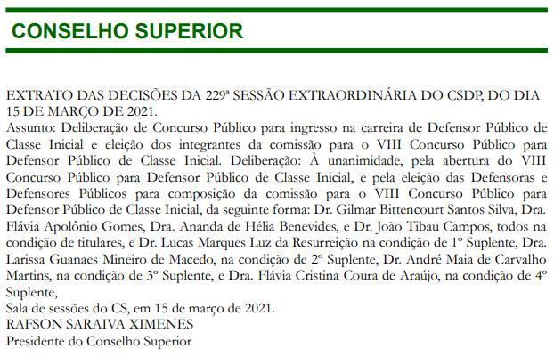 Concurso DPE MG: comissão formada!