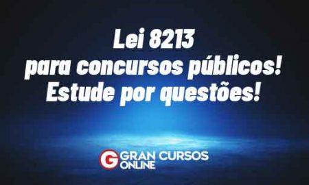Lei 8213 para concursos públicos