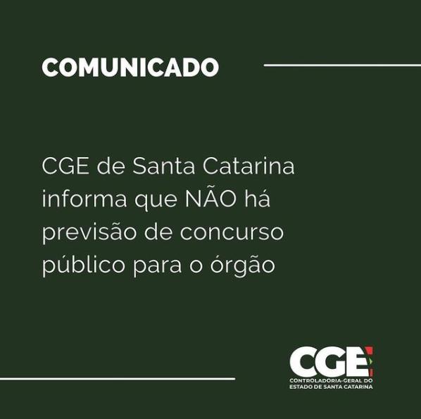 concurso CGE SC