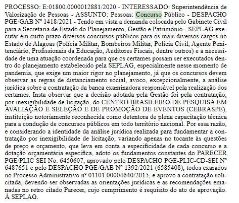 Concurso Sefaz AL: Cebraspe confirmado novamente como organizador.