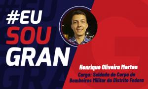 Henrique Oliveira estudou aproximadamente 4 meses e foi aprovado no concurso CBMDF