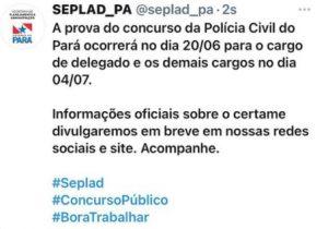 concurso pc pa - comunicado seplad pa