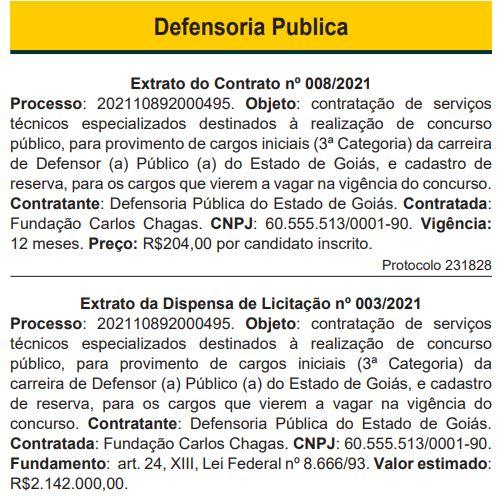 Concurso DPE GO Defensor: banca definida