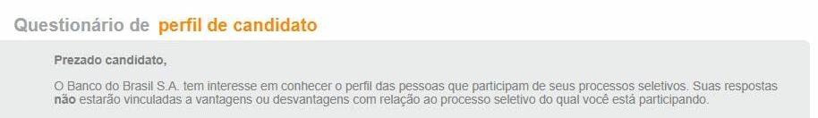 Concurso Banco do Brasil: perfil do candidato inscrições BB